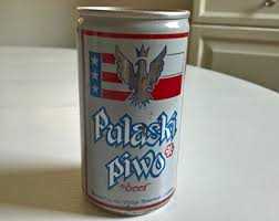 vintage pulaski piwo polish beer flat top can retro american poland bar home decor casimir pulaski nobleman hero cavalry collectable antique pulaski apothecary style