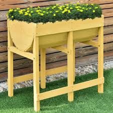raised garden bed planter patio yard greenhouse vegetable flower planting wooden for