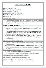 Mba Freshers Resume Format Collection Of Solutions Fresher Resume