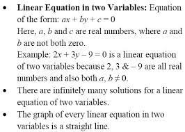 a linear equation in two variables