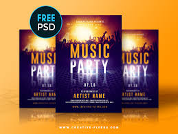 Design And Print Flyers For Free Free Music Party Flyer Template By Rome Creation On Dribbble
