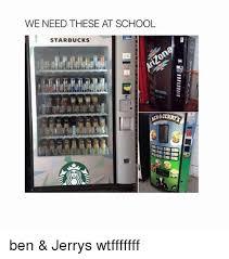 Ben And Jerry's Vending Machine Fascinating WE NEED THESE AT SCHOOL STARBUCKS Ben Jerrys Wtfffffff Funny