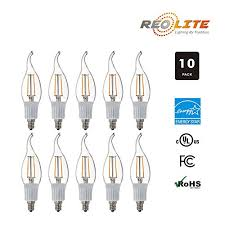 led ca10 e12 candelabra style led filament chandelier light candle bulb 3w 30w equivalent 2800k warm white 10pack