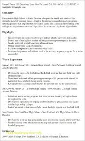 Student Athlete Resume Enchanting Student Athlete Resume From Athletic Resume Template Free Resume