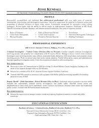 Sample Resume For Recent College Graduate Criminal Justice Resume