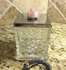 Decorative Quartz Rocks Birthstonerose Quartzdecorative Boxcrystalsjewelry Boxjewelry