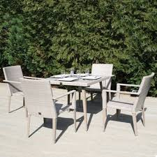 90cm hampstead square dining table with 4 stacking armchairs