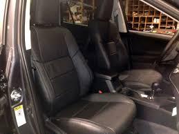 katzkin black replacement leather int seat covers fits 2016 2018 toyota rav4 xle