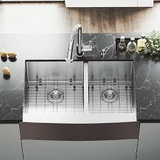 vigo 33 in x 22 25 in snless steel double basin standard drop in a front farmhouse mercial residential kitchen sink