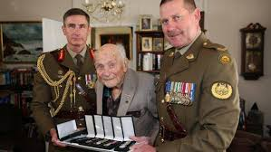Chief of Army drops in to replace 101-year-old WWII veteran's ...