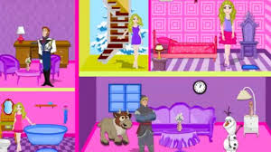 frozen barbie doll house decor play the girl game online