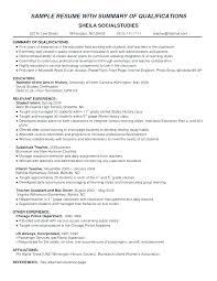 Profile Summary Cv Examples Resume How To Write A That Sample