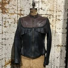 women s harley davidson willie g fringed leather biker jacket