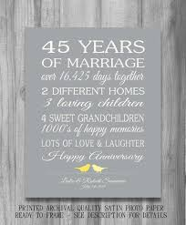 gifts for 45th wedding anniversary. 45th wedding anniversary gift customized by printsbychristine, usd20.00 . gifts for i