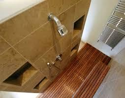 wood shower floor teak shower insert