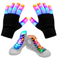 Light Up Gloves Amazon Aywewii Led Gloves For Kids Flashing Finger Light Up Gloves Led Shoelaces Set Led Warm Gloves Kids Toys Black