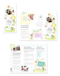 11x17 Trifold Template Trifold Template Preschool Fold Brochure 11 X 17 Indesign