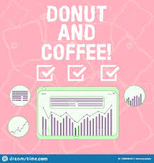 Word Writing Text Donut And Coffee Business Concept For