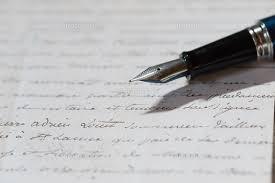 手紙と万年筆