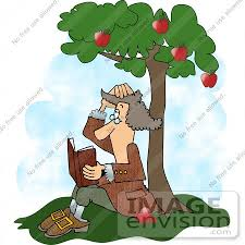 apple tree clipart. #17493 isaac newton reading a book under an apple tree clipart by djart