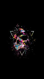 Download Skull, multi-color, sketch art ...