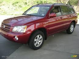 2001 Sundown Red Pearl Toyota Highlander Limited 4WD #28196570 ...