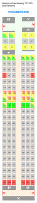 alaska airlines boeing 737 400 734 seat map