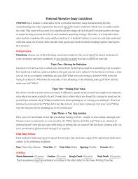 Example Of High School Essays How To Write Personal Narrative Essay For 4th 5th Grade Oc