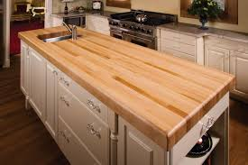 image of solid ikea butcher block countertop
