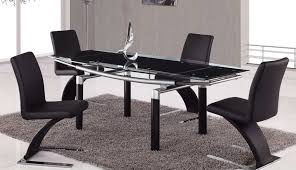 glass table small extending chairs oval round set below hygena fitz beautiful top and black stowaway