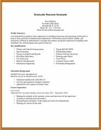 Resume Template For College Student With No Work Experience