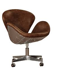 leather office chair. Timeless Bomber Leather Desk Chair Office