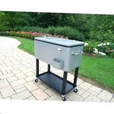 patio cooler cart stainless steel coolers beverage charming rolling free stainles