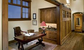 office sliding door. Traditional Home Office Divided With Large Wooden Sliding Door Also Open Floor Plan And Separate Small Area Private Space Design
