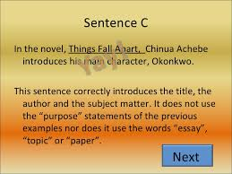 character analysis essay  things fall apart chinua achebe introduces his main character okonkwo < li>< ul>a b c 4
