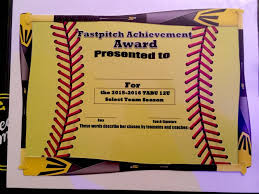 softball award certificate fastpitch softball awards certificate softball pinterest