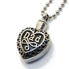 amazon lauren annabelle studio cremation jewelry dad in heart urn ashes snless steel pendant necklace for men and women dad mom jewelry