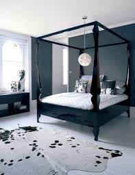 Happy Black Wood Canopy Bed Beautiful Design Ideas With Curtains ...