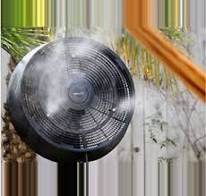 outdoor patio fans pedestal. Image Is Loading Powerful-18-034-Outdoor-Patio-Workstation-Misting-Fan- Outdoor Patio Fans Pedestal N