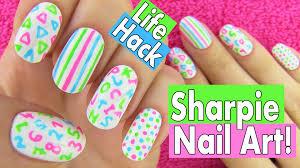 5 Nail Designs Sharpie Nails Nail Art Life Hacks 5 Easy Nail Art Designs
