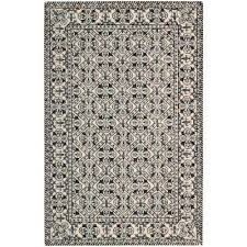 country heritage black white 5 ft x 8 ft area rug