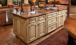 Elegant Kitchen Island with steel sink