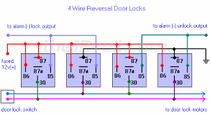 multiple wire power door lock systems, add auto lock unlock 4 pin relay wiring diagram fan 4 wire reversal door locks relay diagram