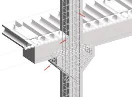 Precast Column with Corbels in Revit BIM and Beam