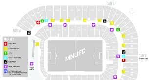 Tcf Stadium Seating Chart Mn United Match Day Refresher