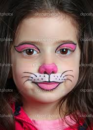 pretty with face painting of a cat stock photo from the largest library of royalty free images only at shutterstock
