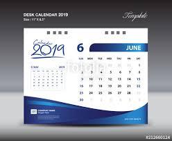 Calender Design Template June Desk Calendar 2019 Template Week Starts Sunday Stationery