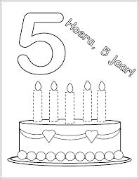 Kleurplaat Verjaardag 5 Jaar Badkamersenhaardennl