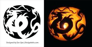 Free Printable Pumpkin Carving Patterns Custom Best Cool Creative Scary Pumpkin Carving Ideas Dragon Patterns Free