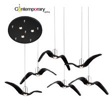seagull pendant lighting. black white creative pendant lights personality seagull lamp barroom loftbardining lighting i